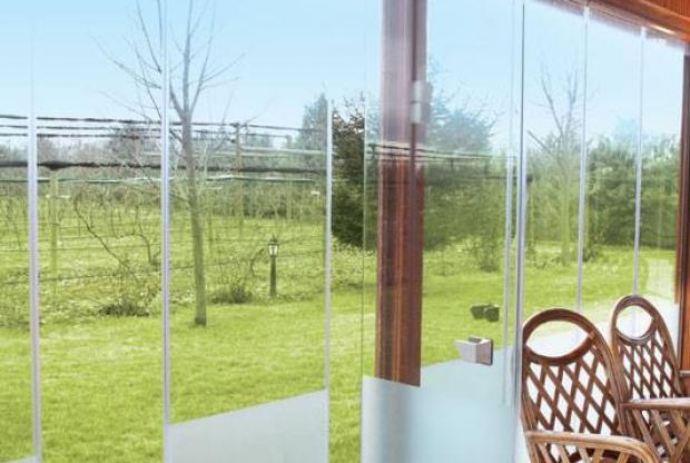 frameless glazing of terraces Vizyon VTS system